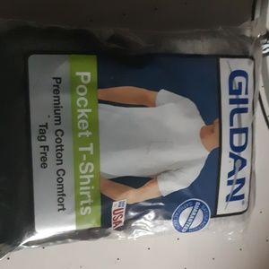 Gildan pocket t-shirts xl